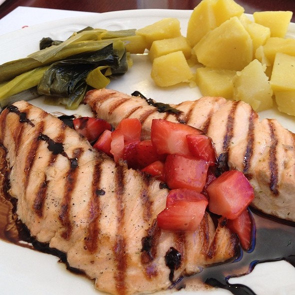 Grilled Salmon With Strawberry Balsamic  @ Le Milan