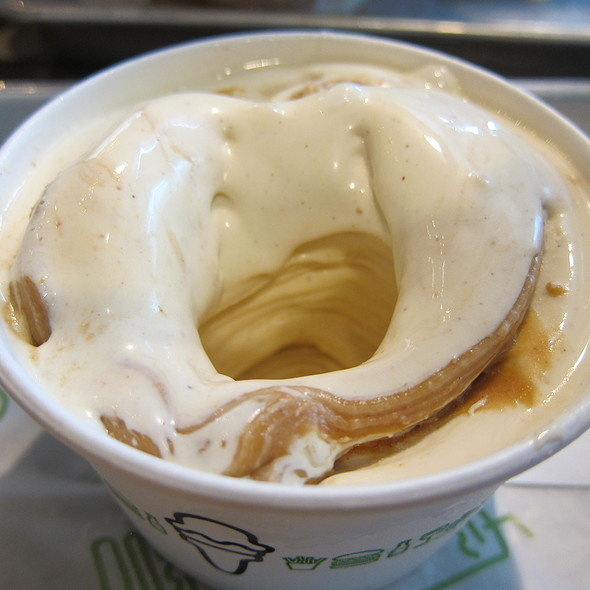 Banana Bread Frozen Custard With Peanut Butter Sauce @ Shake Shack