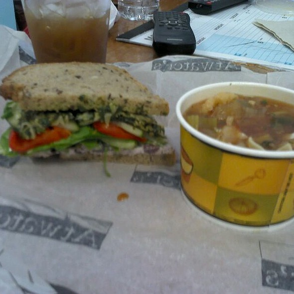 Spring Vegetable Sandwich And Vegetable Goulash @ Atwater's on Falls