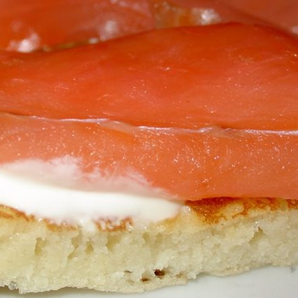 Smoked Salmon with Blinis @ Brasserie Balzar