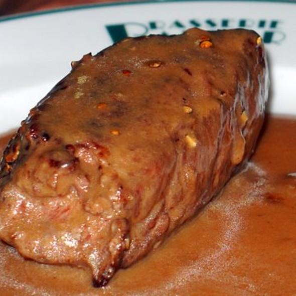 Steak With Peppercorn Sauce @ Brasserie Balzar