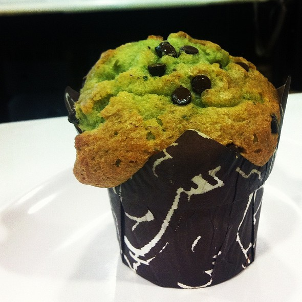 Green tea chocolate chip muffin @ Freshly Baked by Le Bijoux