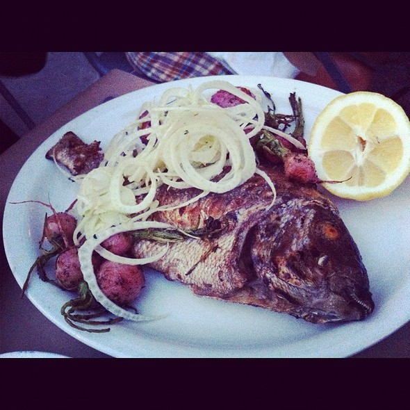 Whole Grilled Porgy With Radishes @ Romans