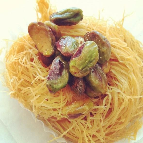 Pistachio Bird's Nest Pastry @ Baklava Cafe