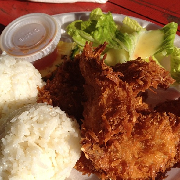 Coconut Shrimp @ Fumi's Kahuku Shrimp