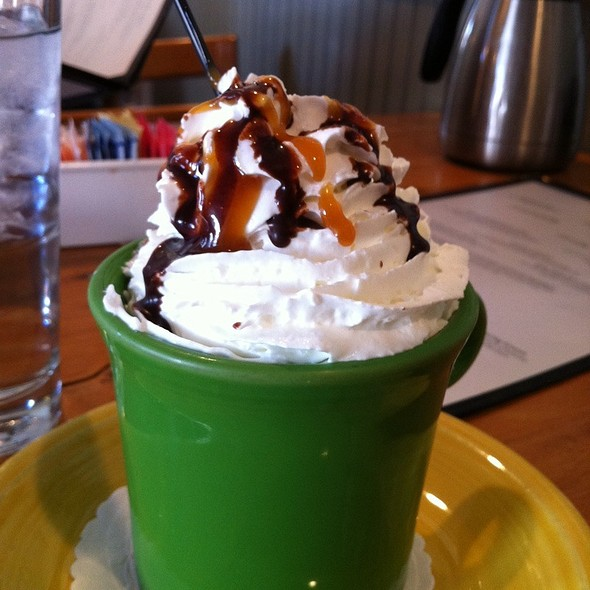 Caramel hot Chocolate  @ Benedict's Egg And More