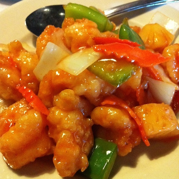 Sweet and sour shrimp @ Asian Bistro