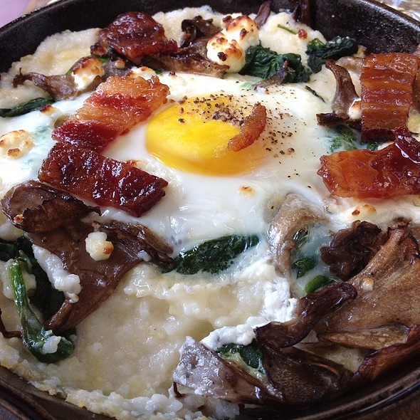 Baked Eggs and Grits with Bacon Crack @ Front Porch
