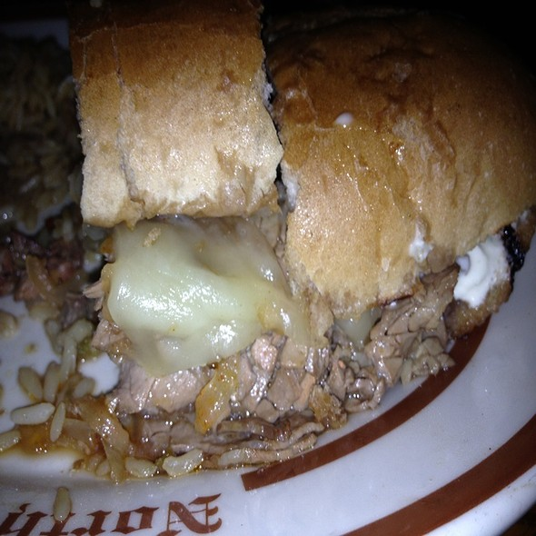 Prime Rib Dip with Garlic Parmesan Fries - Clearman's North Woods Inn of San Gabriel, San Gabriel, CA
