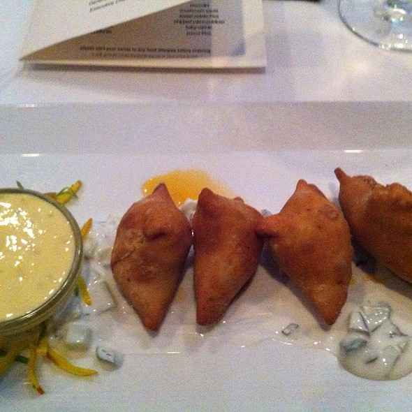 Lamb Samosas @ Chef Geoff's Downtown