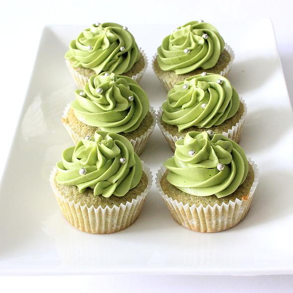 Matcha Green Tea Cupcake @ Home