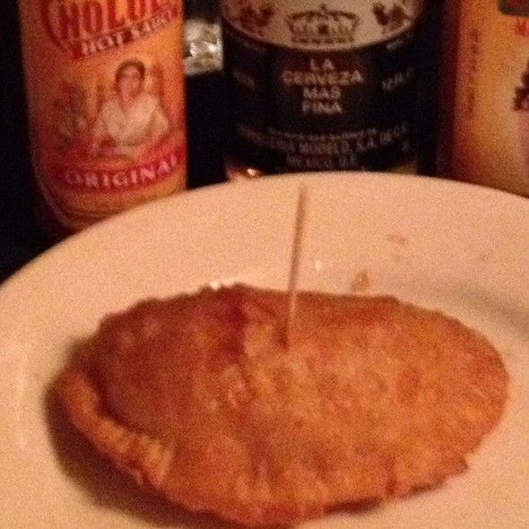 Empanadas: beef picadillo, raisins, capers, chipotle aioli. Salad of arugula and watermelon radish. @ Havana Central
