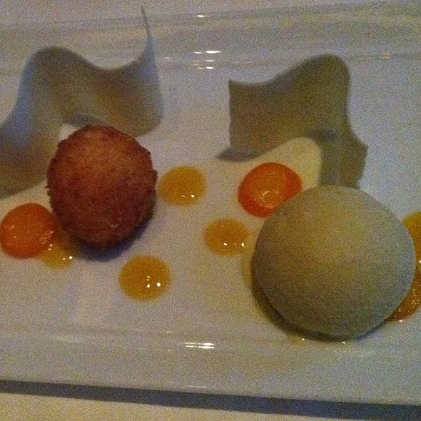 Kumquat Risotto With Chamomile Ice Cream @ AME Restaurant
