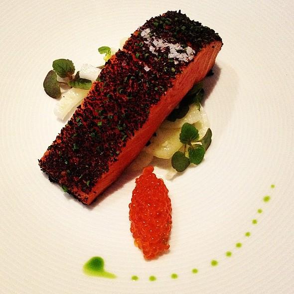 confit of petuna ocean trout with fennel & ocean trout caviar @ Tetsuya's Restaurant