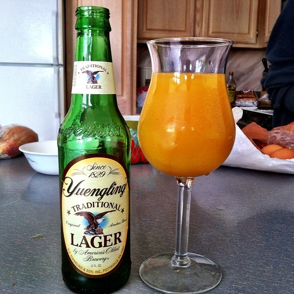 Beer Mimosa With Yuengling And Trop50 @ Laurelwoods Rental Condominium