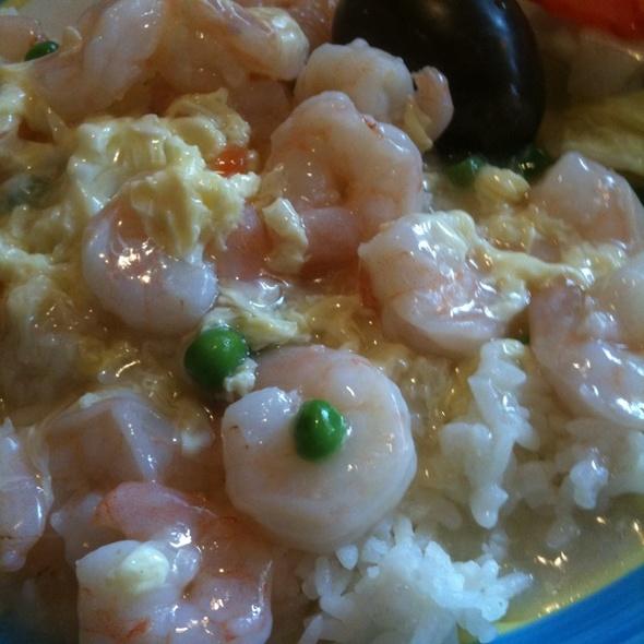 Shrimp with Lobster Sauce over Rice @ Rose Tea Cafe