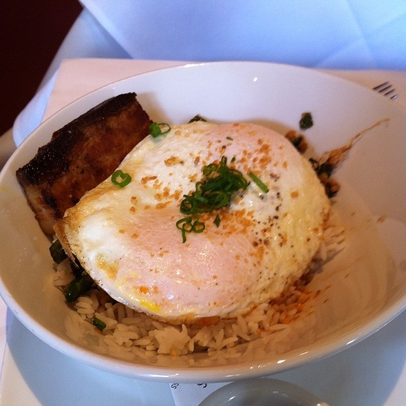 Rice And Eggs With Crispy Pork Belly @ Absinthe Brasserie & Bar