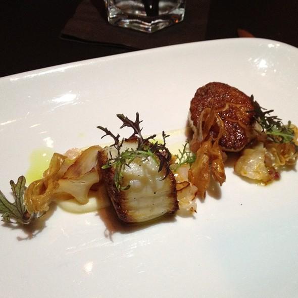 Sea Scallops, Parsley Root, Grapefruit, Ramps, Smoked Paprika Lardo @ Sepia