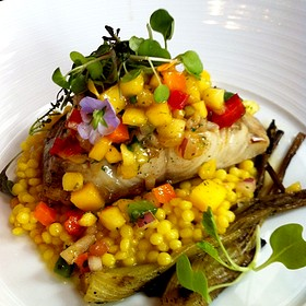 Black Cod On Couscous With Mango Relish