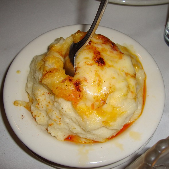 Mashed Potatoes Topped with Cheese - Hugo's Frog Bar & Fish House - Chicago, Chicago, IL