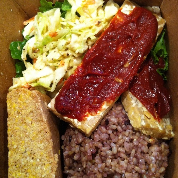 Bbq Tempeh With Cornbread @ Peace Cafe