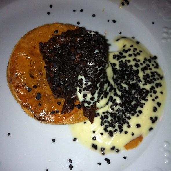 Belgian Chocolate And Vanilla Cream Served With Puff Pastry @ carlota