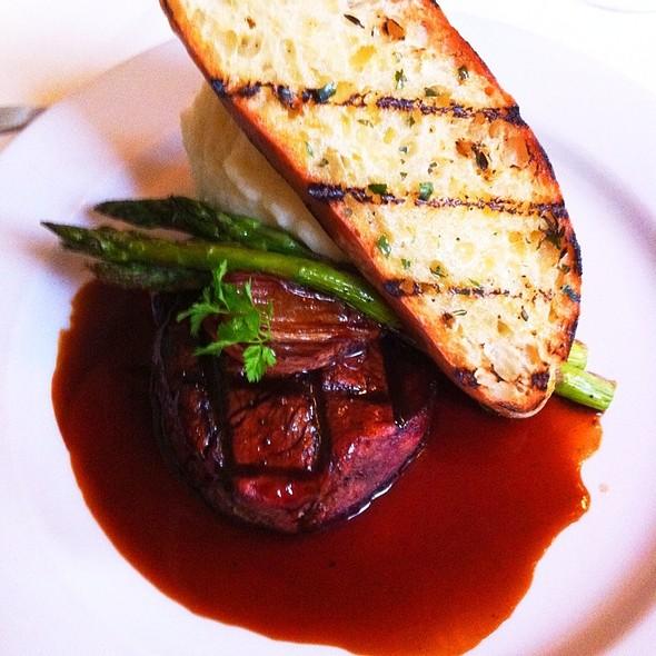 Grilled Beef Tenderloin, Bordelaise Sauce, Asparagus & Horseradish Whipped Potato. - Mistral - Boston, Boston, MA