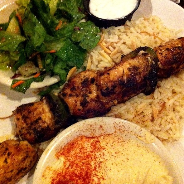 Chicken Kabob Platter @ La Pita