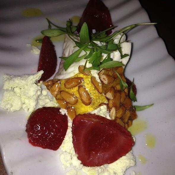 Burrata With Strawberries @ BIN 555 Restaurant & Wine Bar
