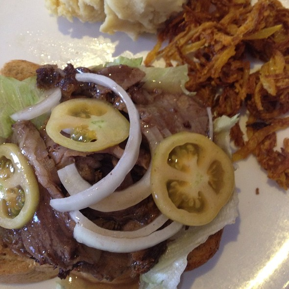 Open-Faced Roast Beef Sandwich With Horseradish at NoMI