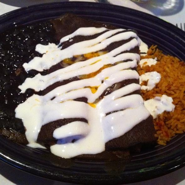 Blue Corn Beef Enchilada @ Cactus Pear