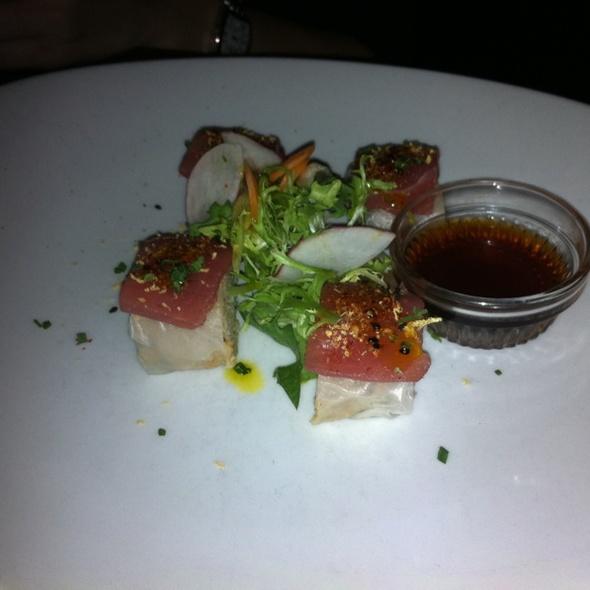 Crab And Avocado Roll With Tuna Sashimi - Wined Up Wine Bar, New York, NY