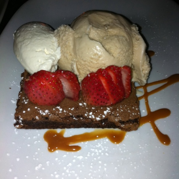 Chocolate Brownie With Butterscotch Ice Cream  - Wined Up Wine Bar, New York, NY