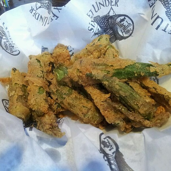 Fried Okra @ Six Feet Under Pub & Fishhouse