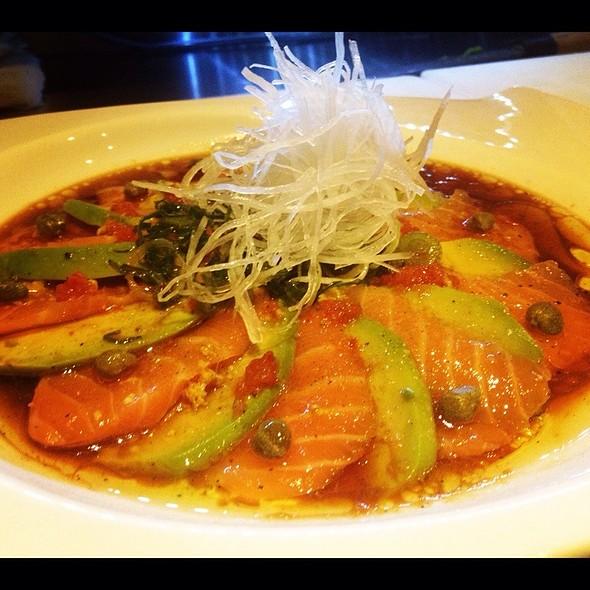 Sake Carpaccio @ Temple - Asian Lounge