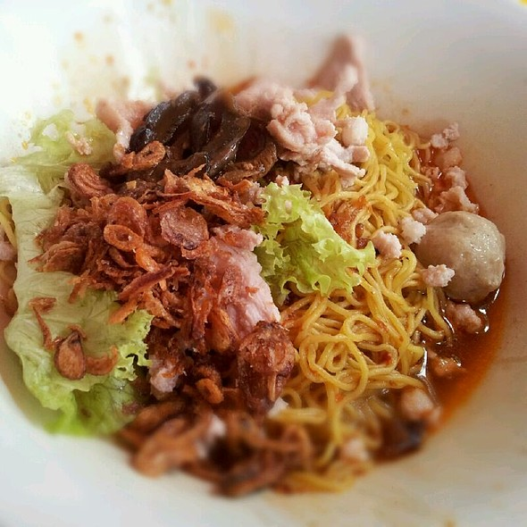 Mushroom Minced Meat Noodles @ AMK Hainanese Abalone Minced Meat Noodle