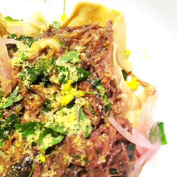 Braised Oxtail Pasta @ Momofuku Ssam Bar