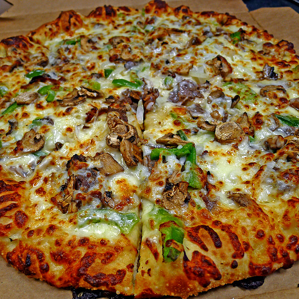Philly Cheesesteak Pizza @ Domino's Pizza
