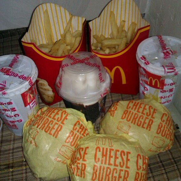 Burger, Fries And Sundae @ McDonald's