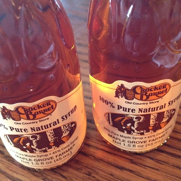 100% Pure Natural Syrup @ Cracker Barrel