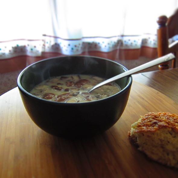 Mushroom Quinoa Avgolemono @ Home