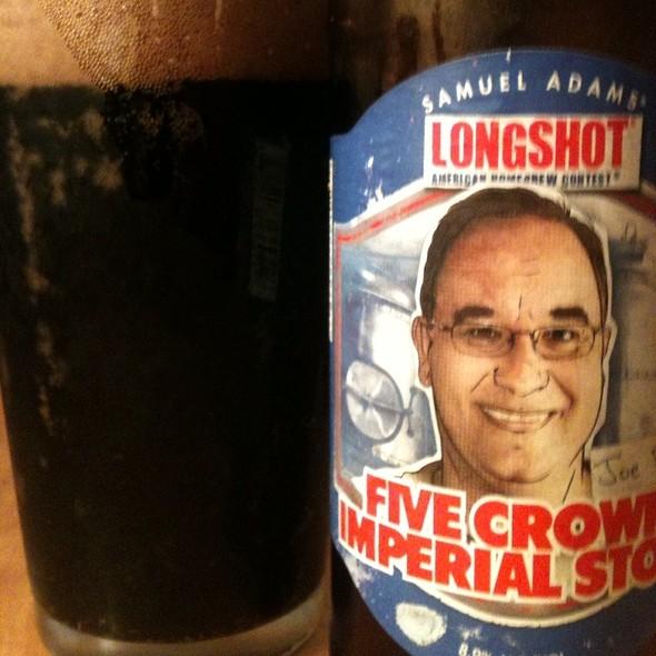 Samuel Adams Longshot Five Crown Imperial Stout @ Worcester,Ma