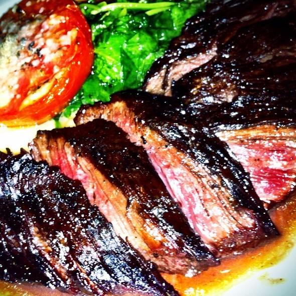 Pan Seared Hangar Steak with Sage Brandy Cream @ Vespaio