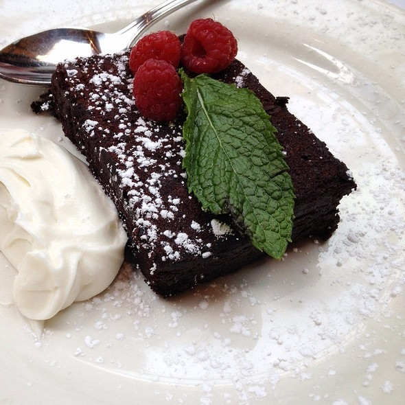 flourless chocolate cake - Cafe Santorini, Pasadena, CA