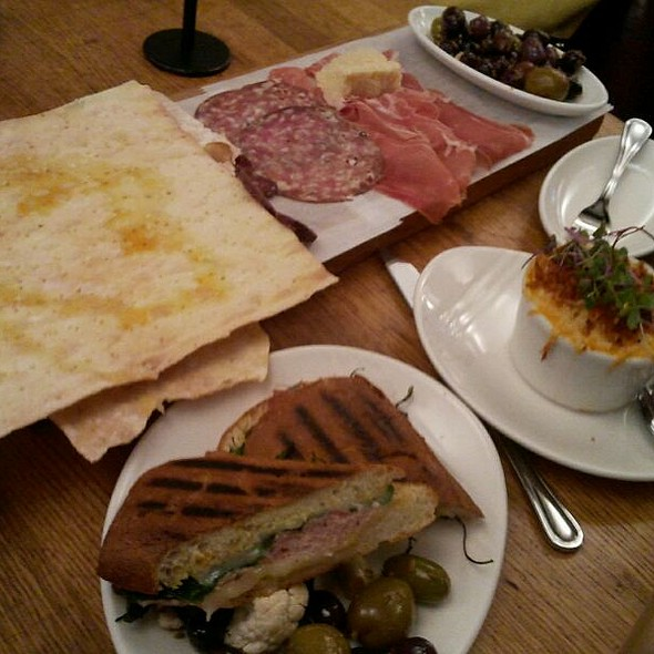 Prosciutto Panini, Antipasto Platter @ Cafe 2 At MoMA