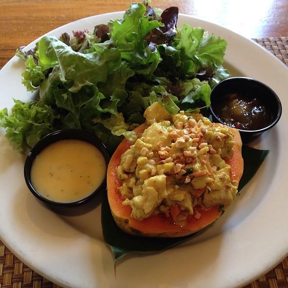 Half Papaya With Curry Chicken Salad @ Royal Lahaina Resort