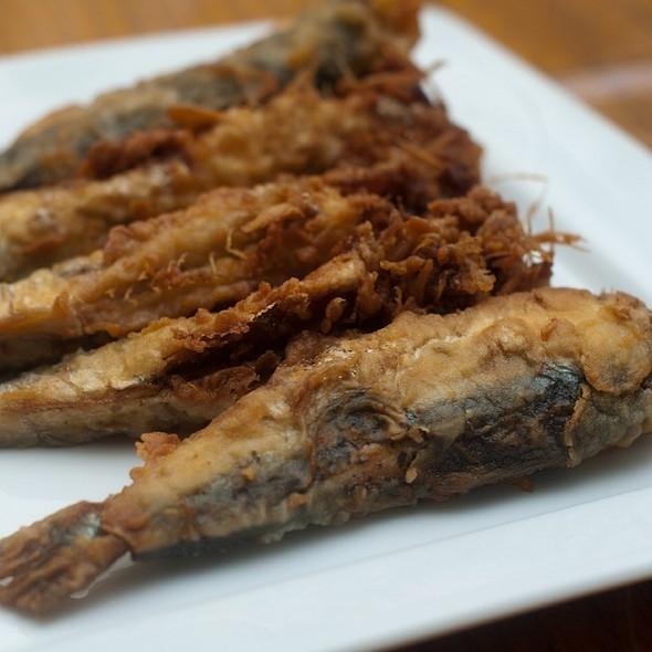 Fried Sardines @ Taverna Kyclades