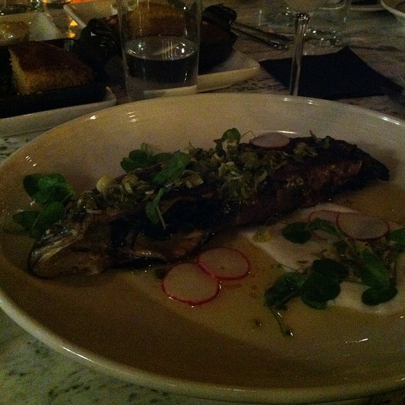 Rainbow Trout With Stinging Nettles And Parsnips Puree @ Butcher & The Boar