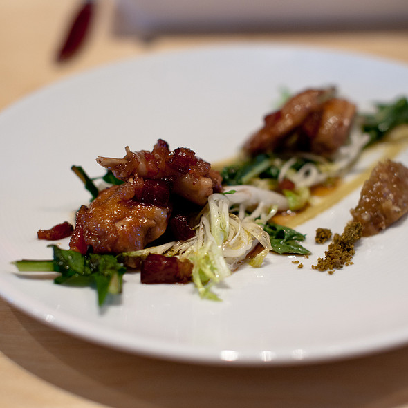 Quail, dates, and killed lettuce @ AQ Restaurant & Bar