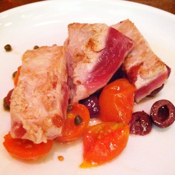 Ahi Tuna, Meyer Lemon, Olives, Capers, Tomato - Café Ba-Ba-Reeba, Chicago, IL